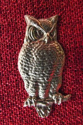 Owl Celtic SCA Pagan LARP Wiccan Mystic Magic Medieval Silver Pewter Brooch