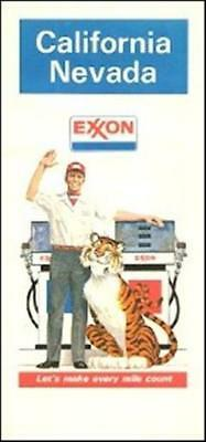 1978 EXXON Tiger Road Map CALIFORNIA NEVADA Lake Tahoe