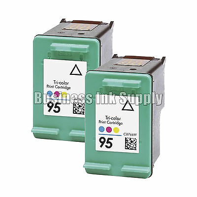 2 TriColor REMANUFACTURED HP 95 HP 95 ink cartridge HP95 High Capacity