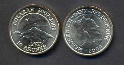 DENMARK 10 kroner  2009 Northern Light  UNC