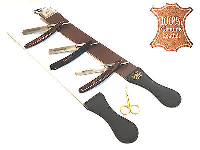 Professional Barber Leather Strop Straight Razor Sharpening Shaving Hair Cutting