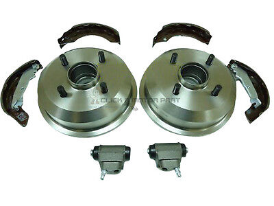 Ford Focus MK1 Front Brake Discs /& Pads Rear Shoes 2 Cylinders 98-04 Borg /& Beck