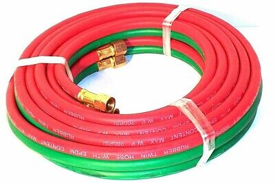 25 Ft 1/4 Id Oxygen And Acetylene Twin Welding Hose Victor & Harris Compatible