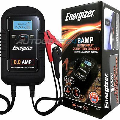 Energizer 50908 Car 4x4 Bike 6v 12v 8A 9 Step Smart Battery Charger & Maintainer