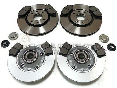 Citroen C4 Front & Rear Brake Discs And Pads Fitted Wheel Bearings Abs Rings