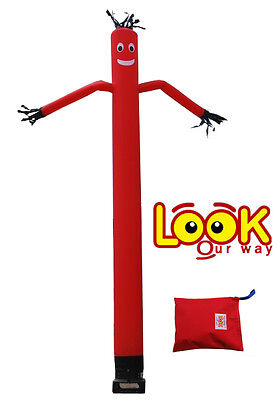 """Inflatable Sky Air Dancer RED 18"""" Nylon Fly Guy"""
