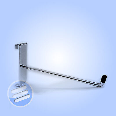 """25 x 8"""" SINGLE DISPLAY HOOK/ PRONG/ ARM ACCESSORY FOR RETAIL SHOP GRIDWALL MESH"""