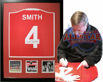 Framed Tommy Smith Signed Liverpool 4 Shirt See Proof