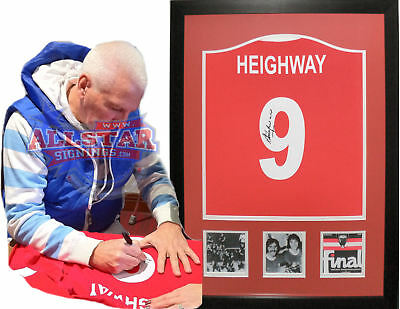 Framed Steve Heighway Signed Liverpool 9 Shirt & Proof