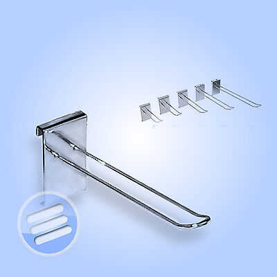 """10 x 4"""" EURO DISPLAY HOOK/ PRONG/ ARM ACCESSORY FOR RETAIL SHOP GRIDWALL MESH"""