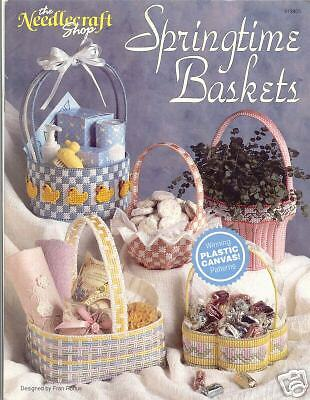 SPRINGTIME BASKETS  ~  Plastic Canvas Book