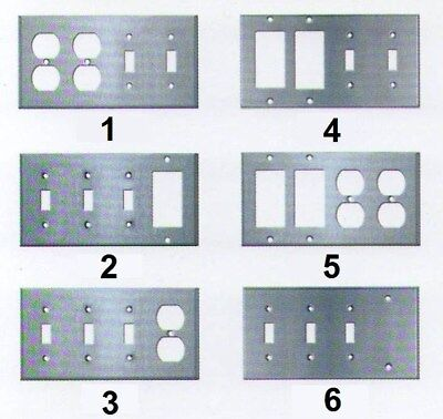4 Gang Combo Wall Switch Duplex Gfci Decora Plug Stainless Steel Cover Plate
