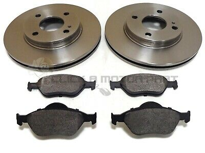 Ford Fiesta Mk6 2002-2007 Most Models Front 2 Brake Discs And Pads Set New