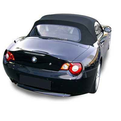 BMW Z4 2003-2008 Convertible Soft Top Replacement & Glass Window Black Stayfast