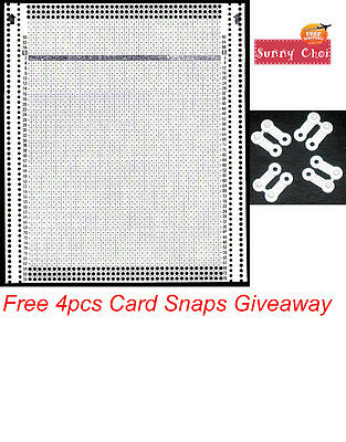 40 Stitch Blank Punch Card For PASSAP Knitting Machine With 4pc Punch Card Snaps
