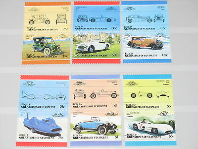 St Vincent Grenadines Bequia 1986 160-71 Classic Cars Oldtimer Autos MNH