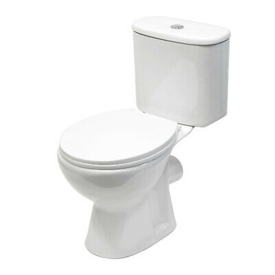 Toilet Bathroom Pan WC Designer Ceramic Close Coupled Cloakroom Soft Close Seat