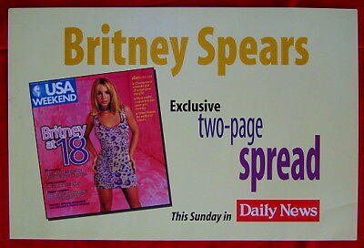 Britney Spears 2000 Daily News Los Angeles poster mint