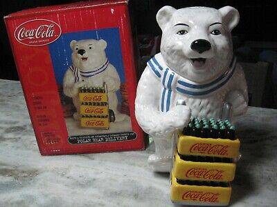 Coca Cola  Polar Bear Delivery  Cookie Jar  -   Nib