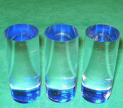 3 BLUE Las Vegas Wide Casino Acrylic Roulette Markers  FREE SHIPPING *