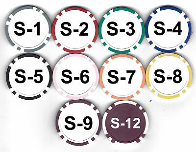 100 ROULETTE or Custom CLAY COMPOSITE POKER CHIPS 11.5 gram FREE SHIPPING *