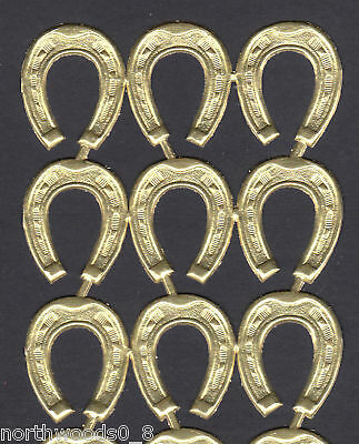 Horseshoe Small Lucky Paper Gold Foil Dresden Germany Decorative