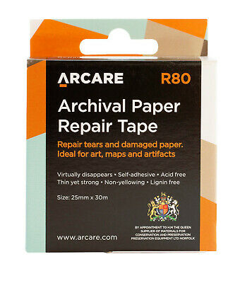 PAPER REPAIR TAPE for book, paper & documents 29m ROLL!