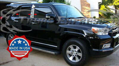 2010-2018 Toyota 4Runner 4 Runner 6Pc Chrome Pillar Post Stainless Steel Trim