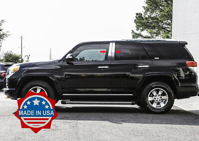 2010-2018 Toyota 4Runner 4 Runner 4Pc Chrome Pillar Post Stainless Steel Trim