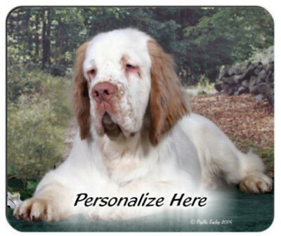 Clumber  Spaniel  Personalized  Mouse Pad