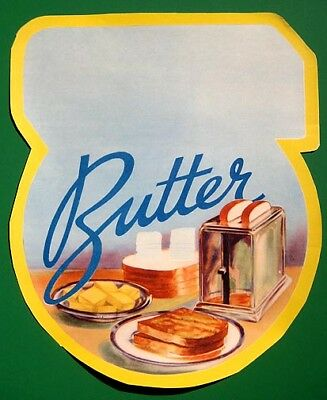 BUTTER 1930's supermarket paper poster sign MINTY MINT