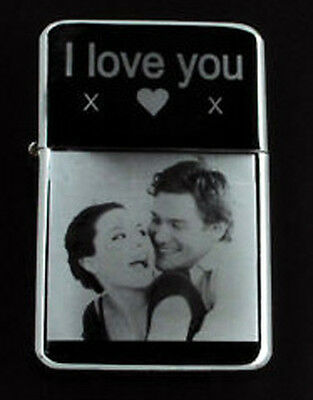 Personalised Any Photo / Text Engraved Lighter Gift Uk All Come With A Tin Box