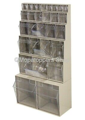 NEW Wall Mountable Clear View Tilting Plastic Parts Storage Bins Boxes Free P&P
