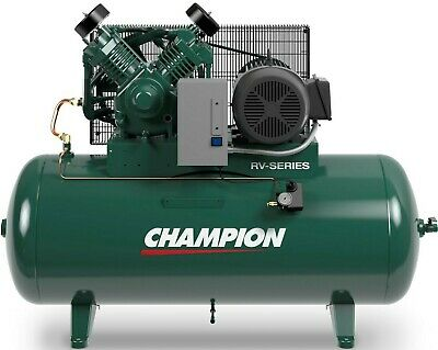 Champion Air Compressor 7.5 Hp 2-Stage 1-Phase 80 Gal Horizontal Industrial