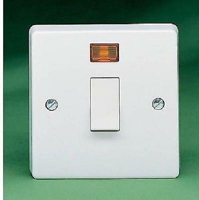 Crabtree 32a Double Pole Isolator Switch cw neon 4013/3