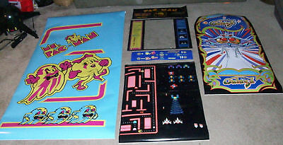 NEW MS Pac-Man Galaga multicade 6 piece artwork  arcade