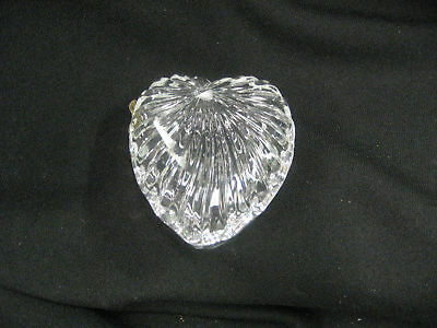 Dish Heart shape lead glass covered