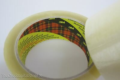 Clear Transparent Packing Packaging Tape 3M 2 Rolls 66m