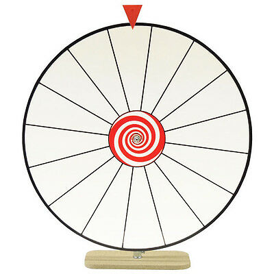 """24"""" Spinning Tabletop Prize Wheel - 16 White Dry Erase Sections - Party Event"""