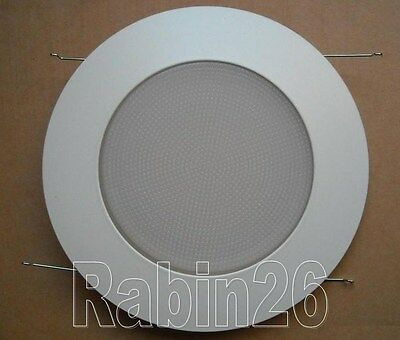 """6"""" Inch Recessed Can Light Shower Trim Glass Milky Frosted Lens White"""