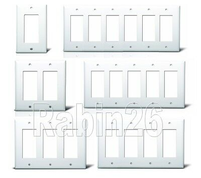 Decora Gfci Plastic Wall Cover Plate 1 2 3 4 5 6 Gang Toggle Plug Outlet White