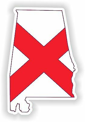 1x STICKER ALABAMA SILHOUETTE STATE decal USA MAP FLAG
