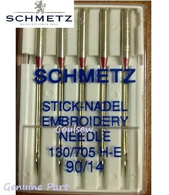 SEWING MACHINE EMBROIDERY NEEDLES 90/14 Fits all home embroidery machines