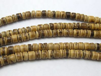 """5 Strands of 16"""" Natural Coconut Rondelle Beads 5mm"""