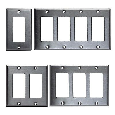 Gfi Decora Stainless Steel Wall Cover Plate 1 2 3 4 Gang