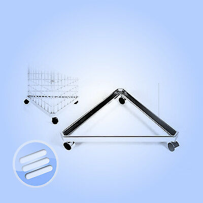 ' Triangular Base ' Stand For Gridwall/ Grid Wall Mesh Retail Shop Display Panel
