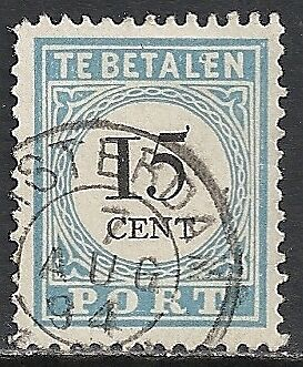 Netherlands 1881 NVPH Due 9III Plate Error  CANC  VF