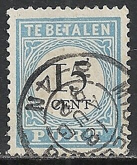 Netherlands 1881 NVPH Due 9Dfe Plate Error  CANC  VF