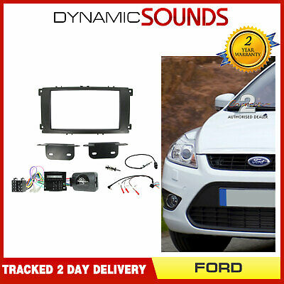 CTKFD24 Double Din Car Stereo Fitting Kit Black for Ford Mondeo 2007-2014
