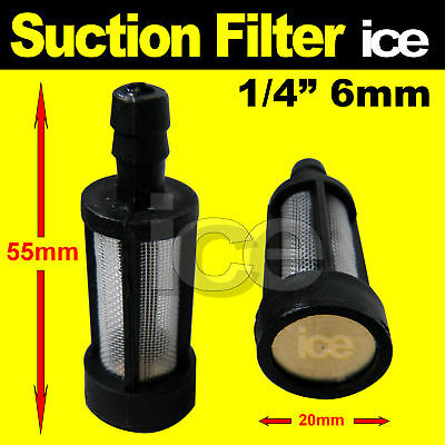 PRESSURE WASHER SOAP CHEMICAL DETERGENT TANK FEED HOSE INLET FILTER STRAINER 6mm